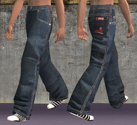 Mod The Sims - US40 baggy pants for male teens, YAs and adults