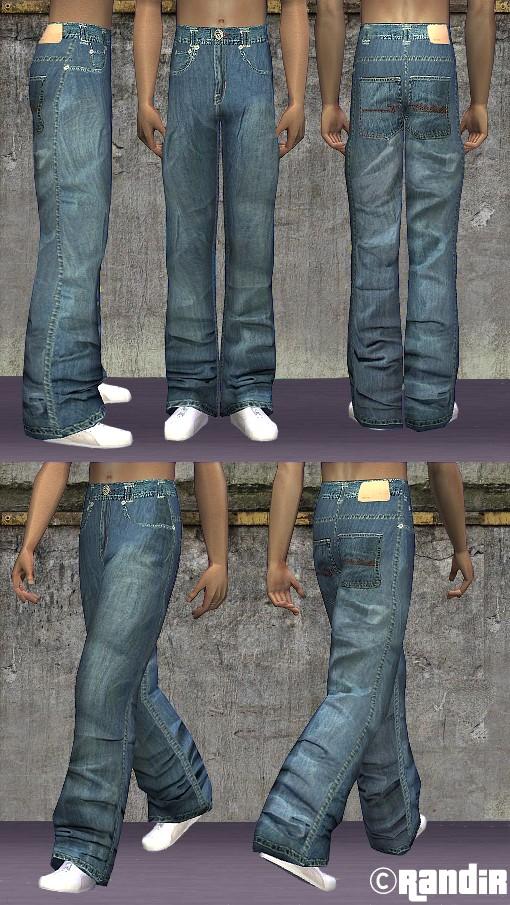 Mod The Sims - Ecko Unltd baggy pants for male teens, YAs ...