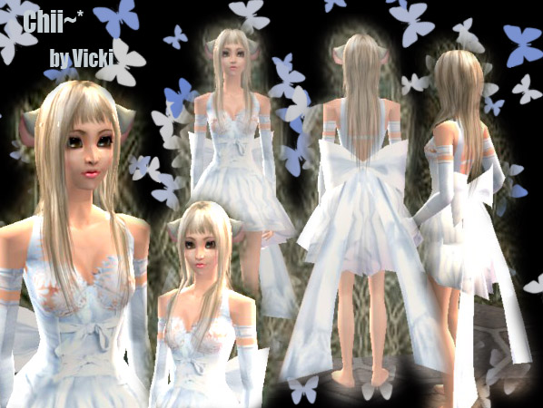 Sims 3 white dress  girl