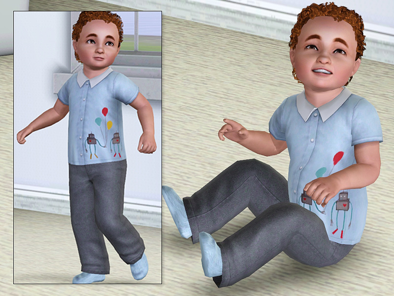 Mod The Sims - Three Tops for Boys and Some New Meshes (Toddlers)