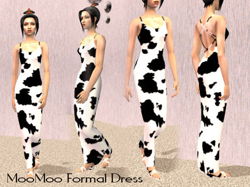 Cow Prom Dress