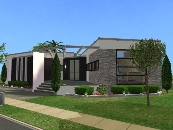 Mod the sims villa monatique modern home for Modern house design the sims 4