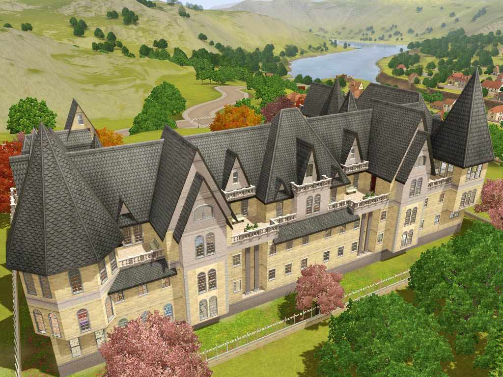 French Manor House Plans Mod The Sims Grothfort Castle