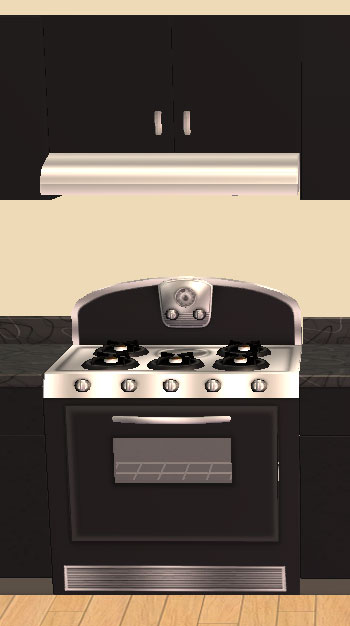 Mod The Sims Retro Stove And Rangehood New Meshes