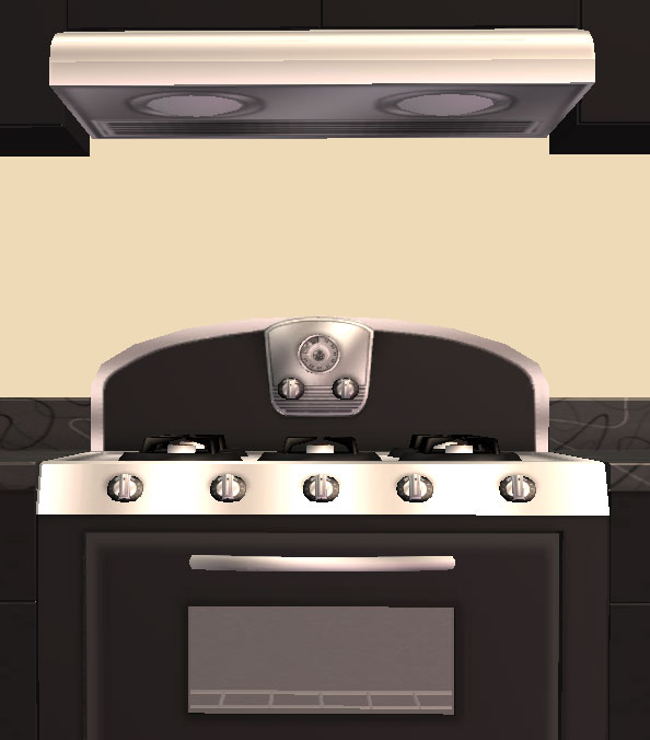 Mod The Sims - Retro Stove and Rangehood - New Meshes