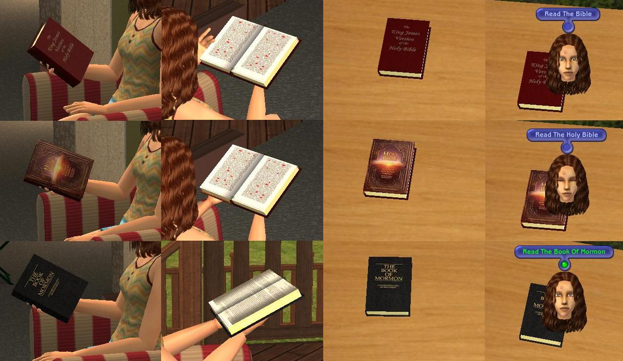 Mod the sims new books 7 religious books no replacement for Sims 3 spielideen