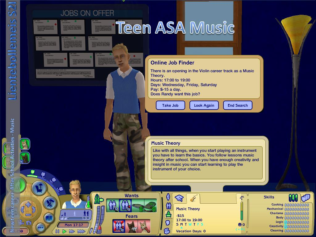 mod the sims new teen career after school activities  advertisement