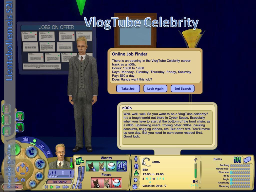 Mod The Sims - New career: VlogTube Celebrity (PTO+CC)