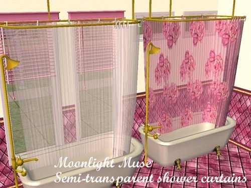 Semi Transparent Colonial Shower Curtains UPDATED