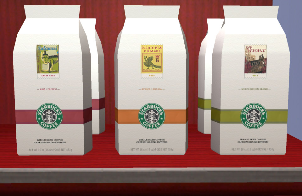 Mod The Sims Starbucks Accessories Coffee Bags Tea Boxes Mugs