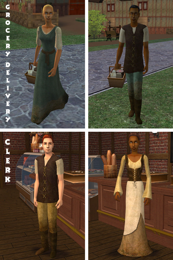 Mod The Sims - Medieval NPC Replacements: Commoners