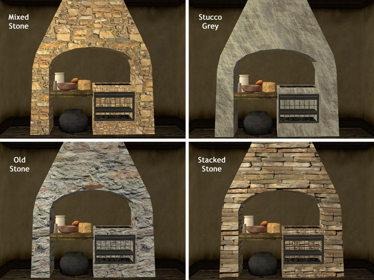 Mod The Sims Ed S Medieval Stone Hearth Updated And 20