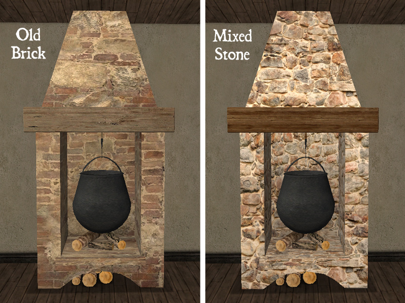 Fireplace Design fireplace cooking : Mod The Sims - Recolors of Maylin's Antique Cooking Fireplace