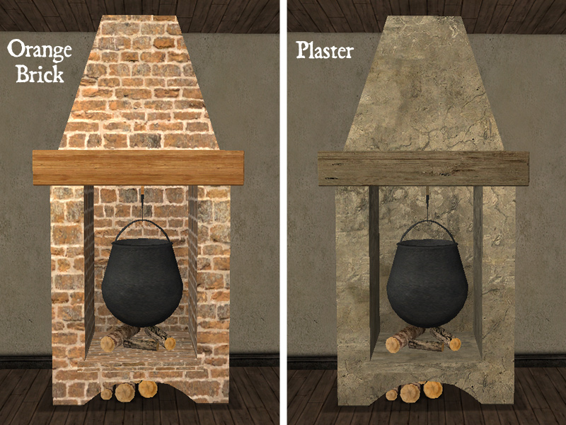 Fireplace Design plaster fireplace : Mod The Sims - Recolors of Maylin's Antique Cooking Fireplace