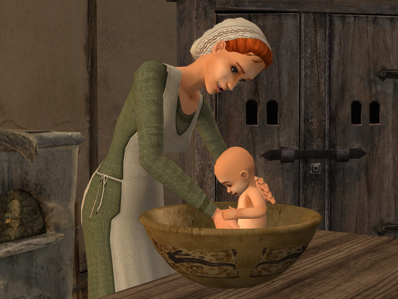 Mod The Sims Chamber Pot and Bowl Sink. Sim Baby Toilet
