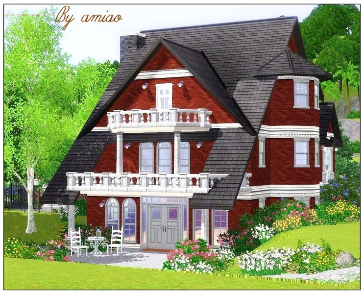 Mod the sims classic design a flowery garden for Summer homes builder