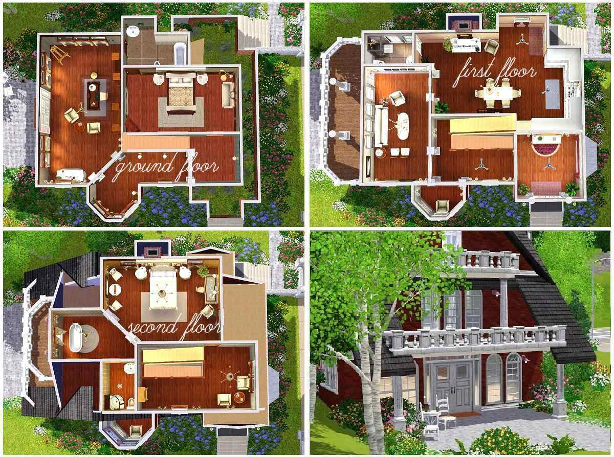 Mod the sims classic design a flowery garden for for Best house designs for the sims 3