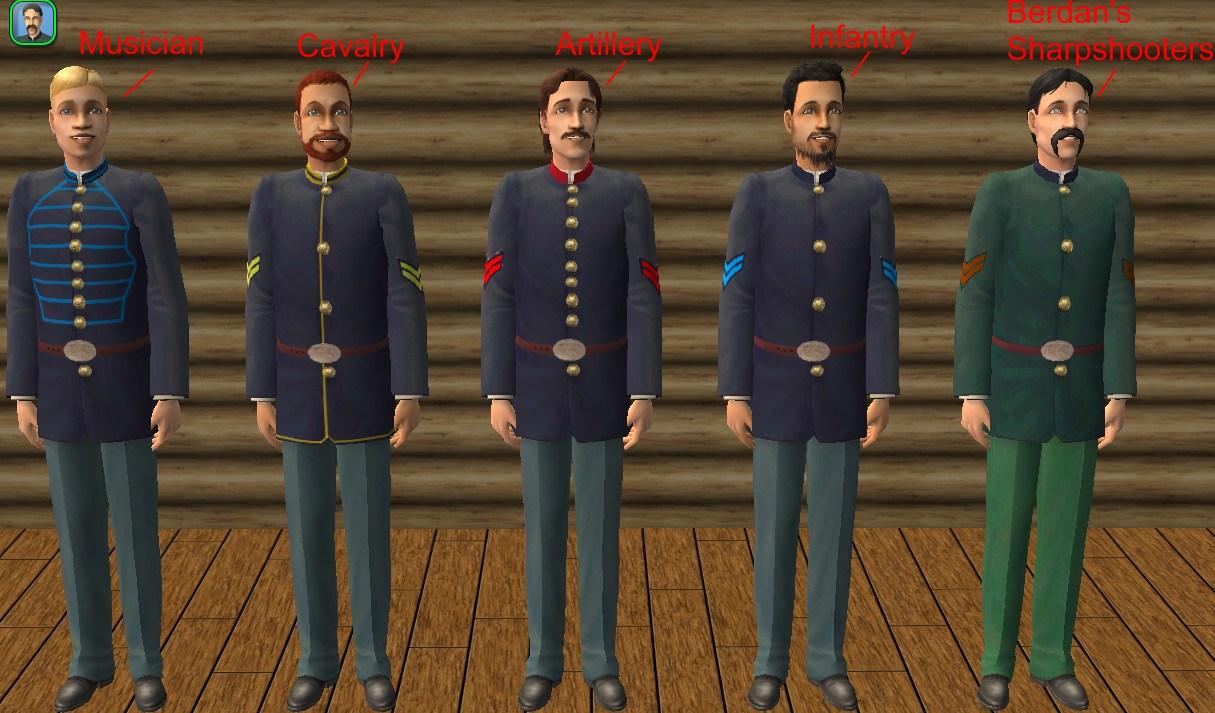 Mod The Sims - Civil war Federal Uniforms