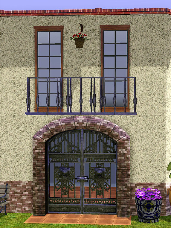 Mod the sims spanish balconies for sims3 for Balcony in spanish