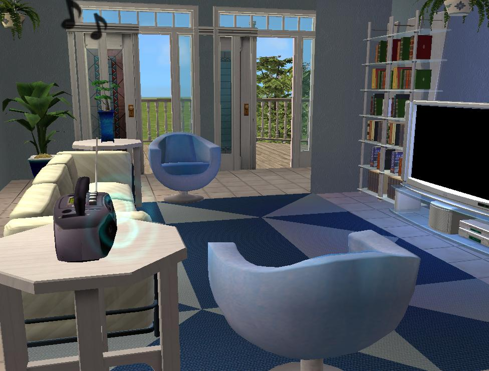 Mod the sims azure blue isle for Living room 5x3