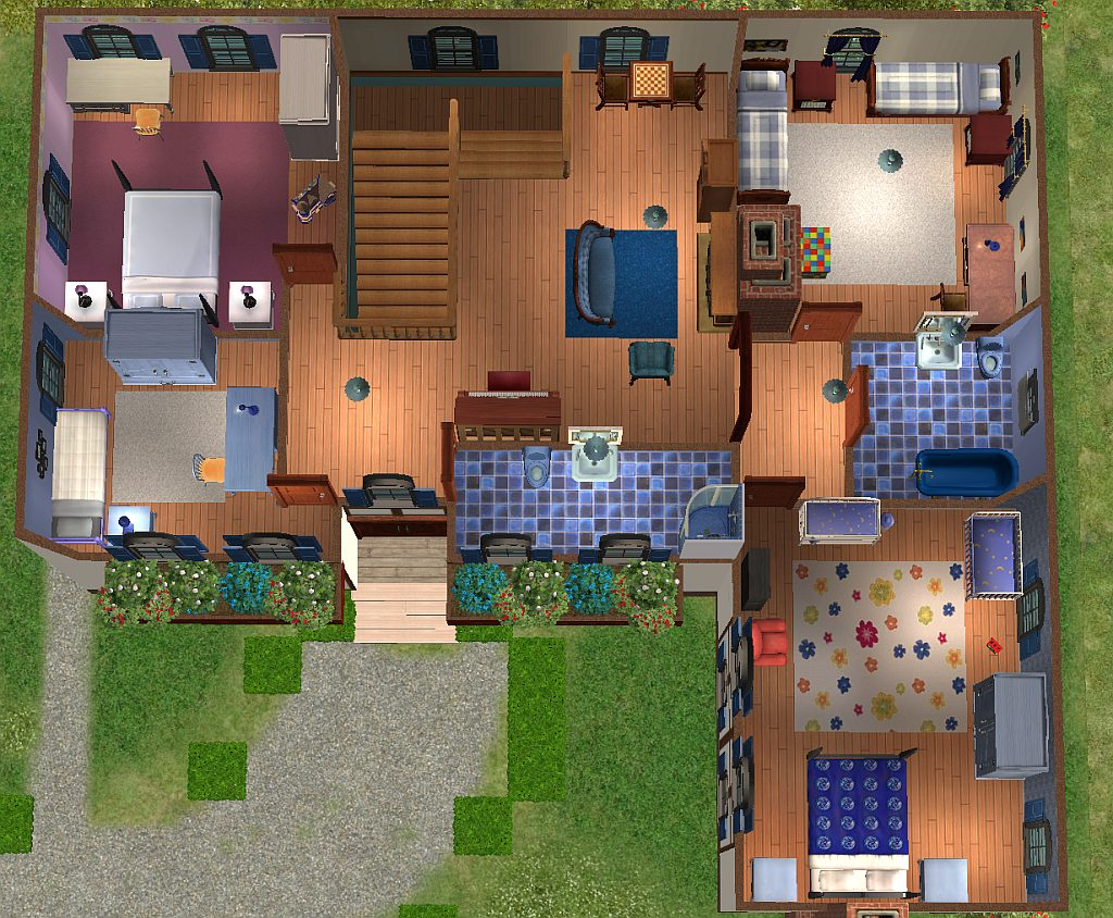 Mod the sims maison de campagne for Maison de campagne design
