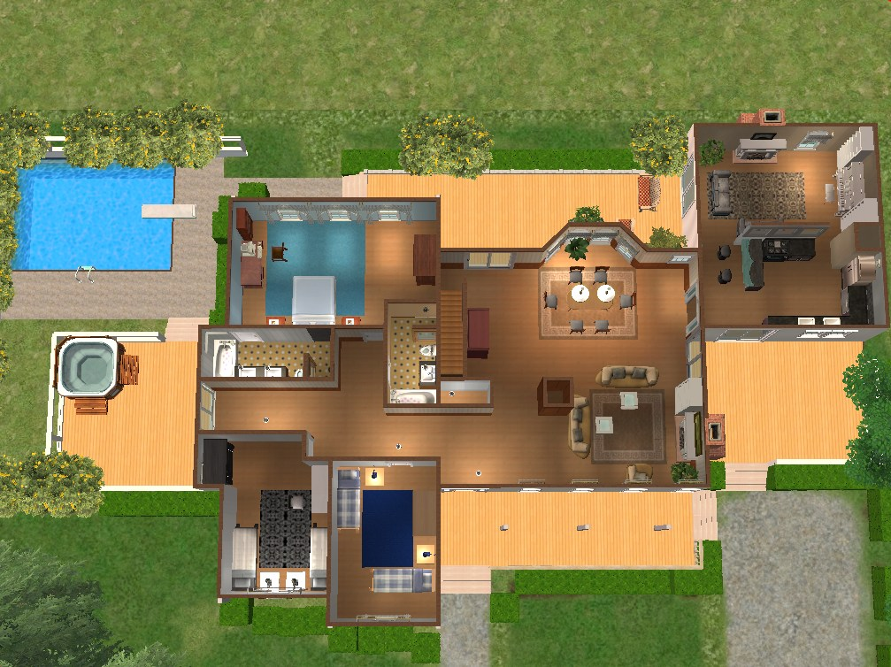 Mod the sims sunspring at berry bay furnished and - Plan de maison campagne ...