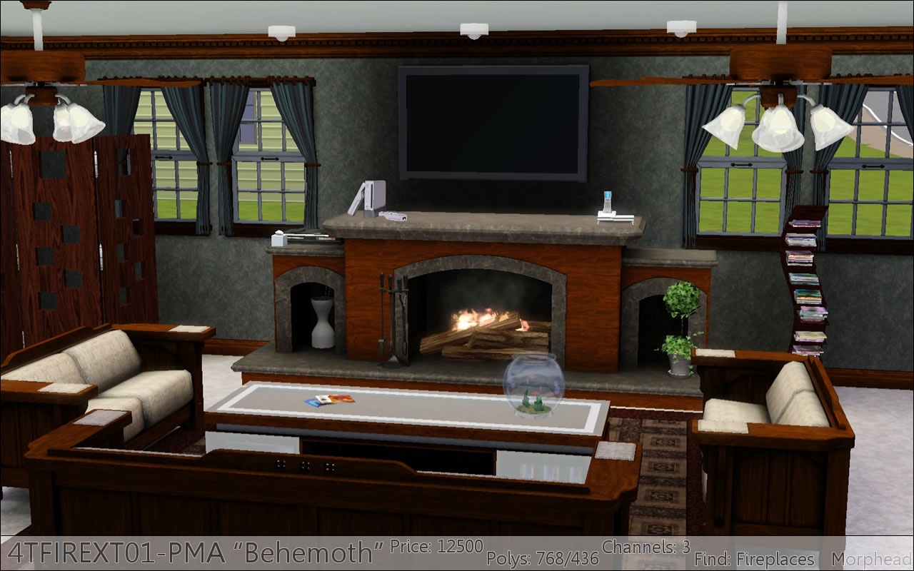 Mod The Sims Fireplaces By Pmaho P1 1 29