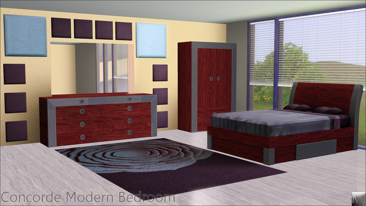 Sims 3 Bedroom Mod The Sims Concorde Modern Bedroom
