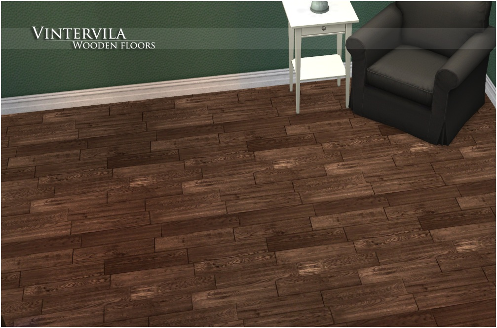 Mod the sims vintervila wooden floors for Floors on floors