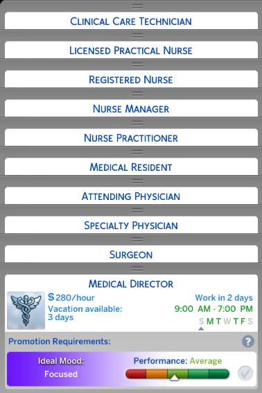 Mod The Sims Doctor Career Job Titles Replacement