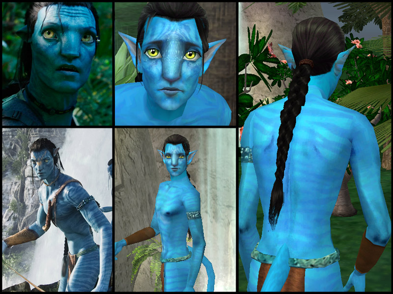 Mod The Sims Jake Sully From Avatar W New Braid Hair Mesh