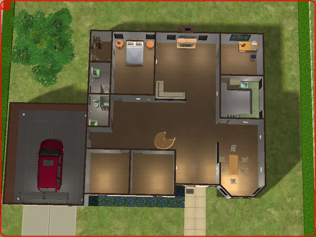 Mod the sims large suburban home for Sims 4 floor plans
