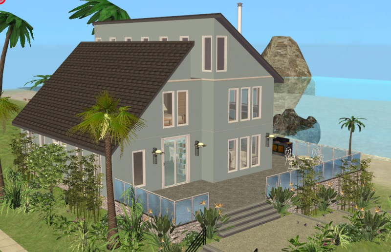 Mod the sims modern beach house for Beach house 3 free download