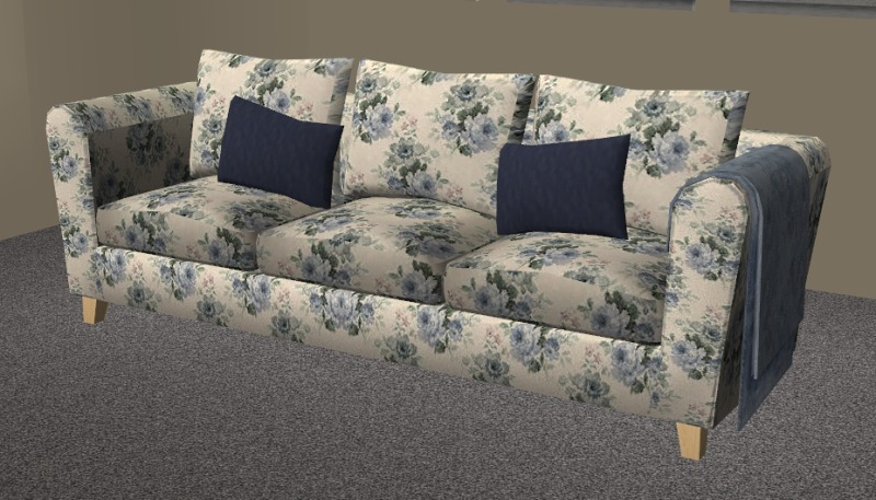 Top 28 Blue Floral Sofa Upholstered Sleeper Sofa In A Beautiful Blue Floral Print Gallery