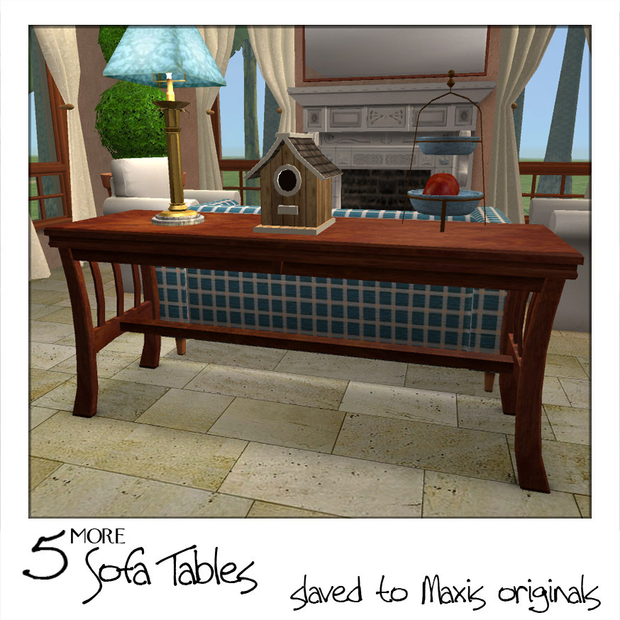 Mod The Sims Sofa Tables 2 More Maxis Add Ons Bonus