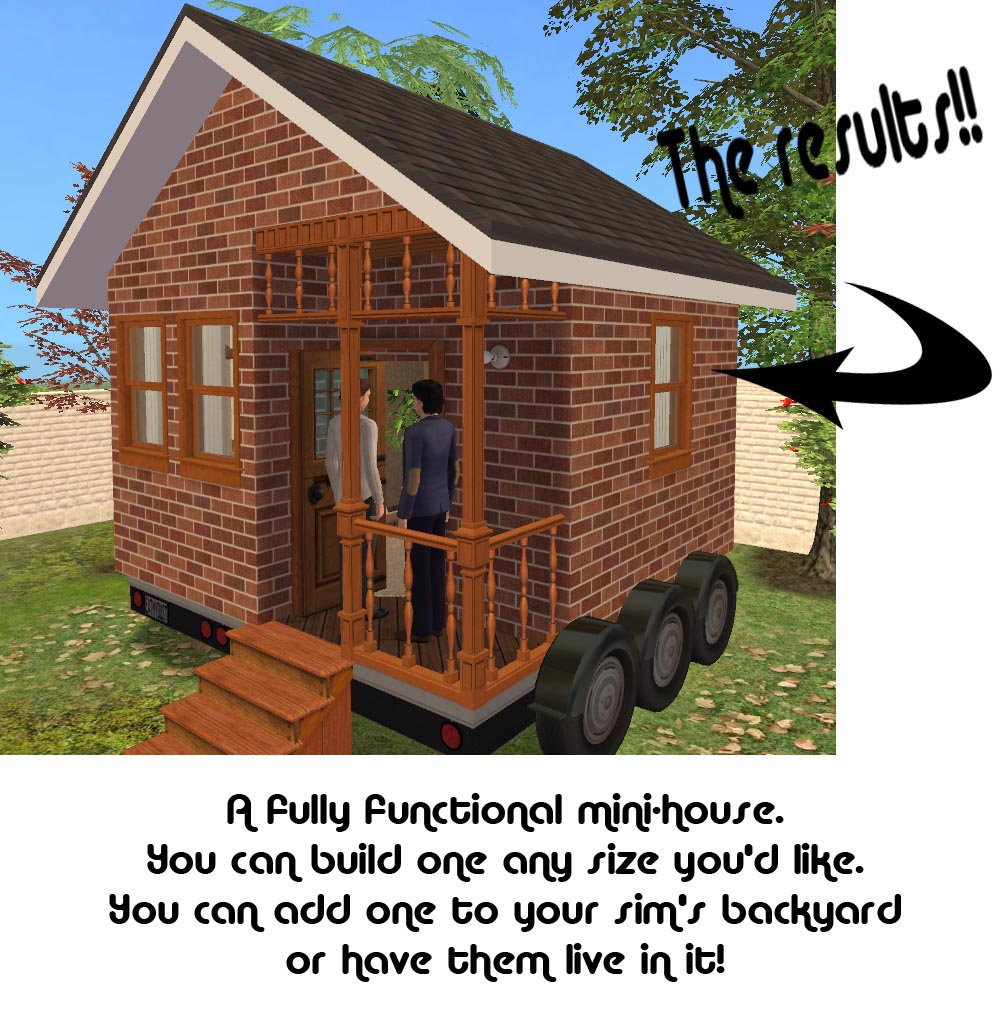 Astounding Mod The Sims The Mini House Kit Largest Home Design Picture Inspirations Pitcheantrous