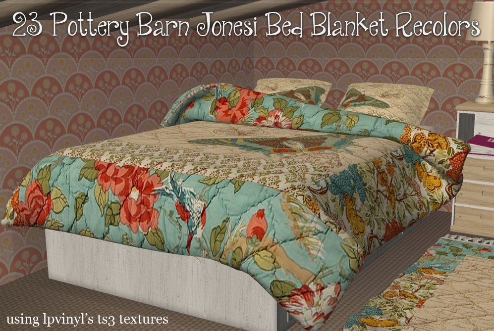 Mod The Sims Pottery Barn Blankets 5 2016 New Mesh Link
