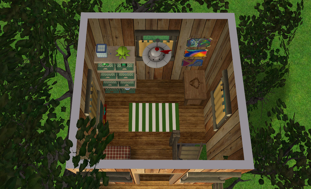 how to build a treehouse sims 4