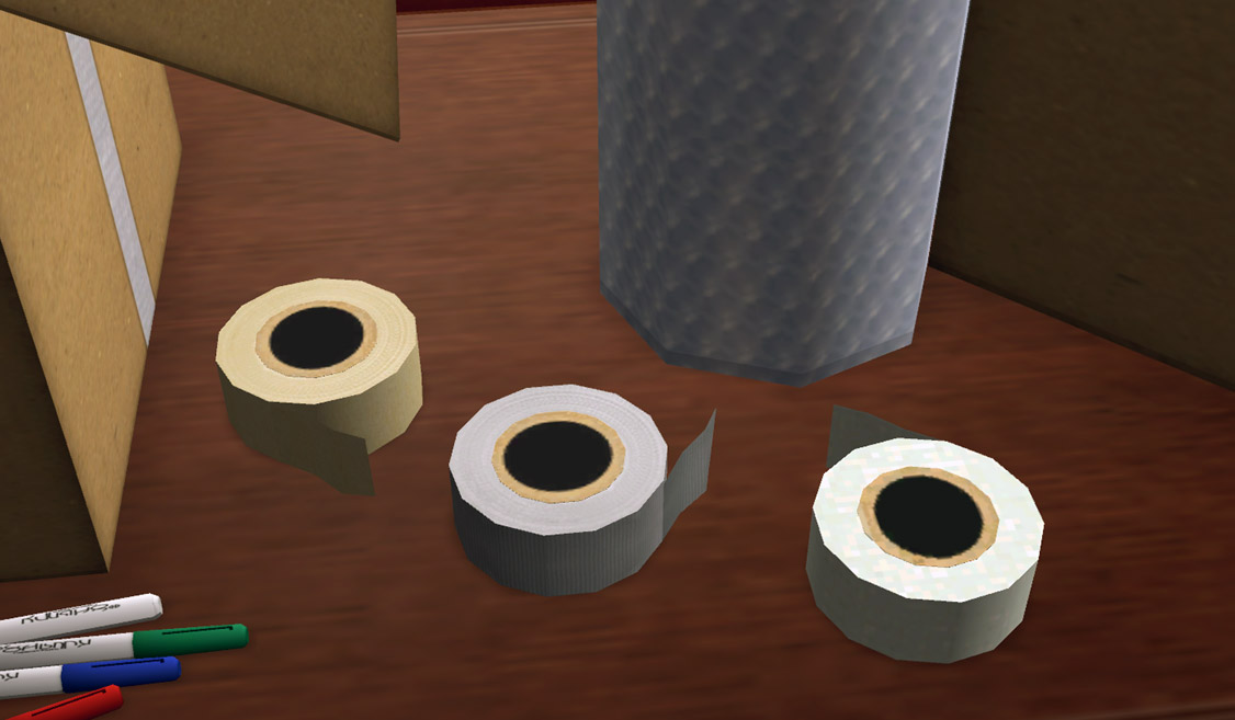 mod the sims moving day boxes tape and more. Black Bedroom Furniture Sets. Home Design Ideas