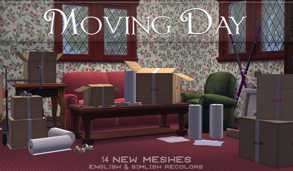 Mod The Sims - Moving Day ~ Boxes, Tape, and More