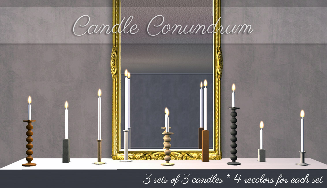 Mod The Sims Taper Candle Collection