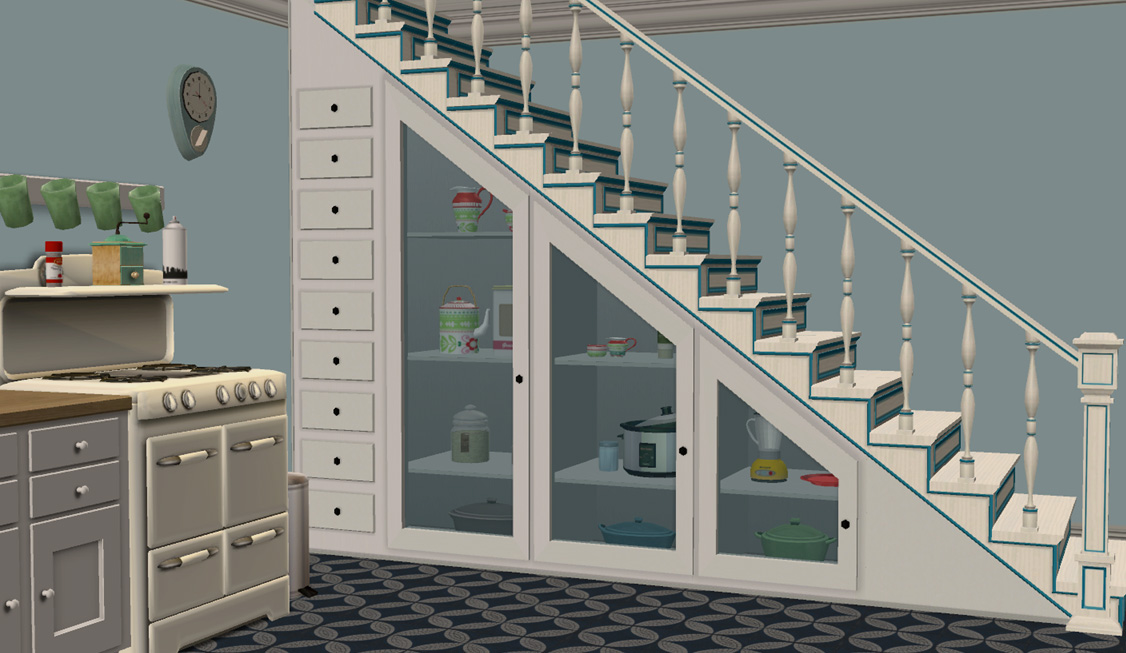 advertisement - Under Stairs Kitchen Storage