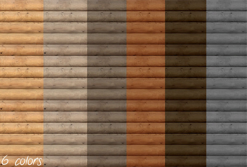 Well known Mod The Sims - Log Cabin Siding Set - 6 Colors JE19