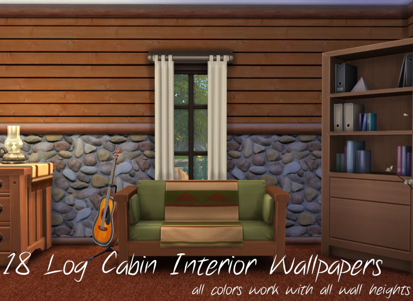17 siding colors with automatic corner edging for sims 4 for Log cabin interior paint colors