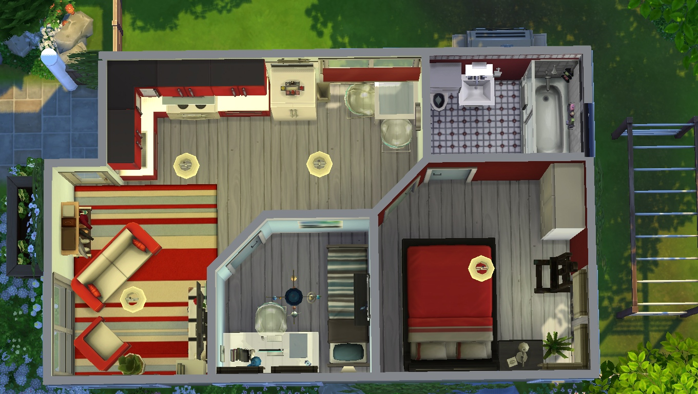 Mod the sims sound of serenity tiny house for a small for Tiny home for family of 4