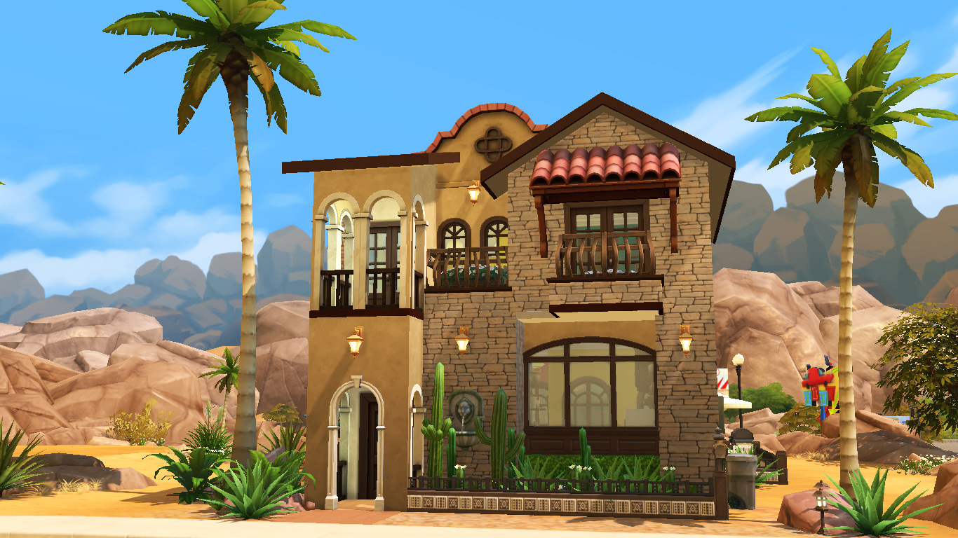Mediterrane Gartenmobel Style : Mod the sims mi casa mediterranean style house no cc