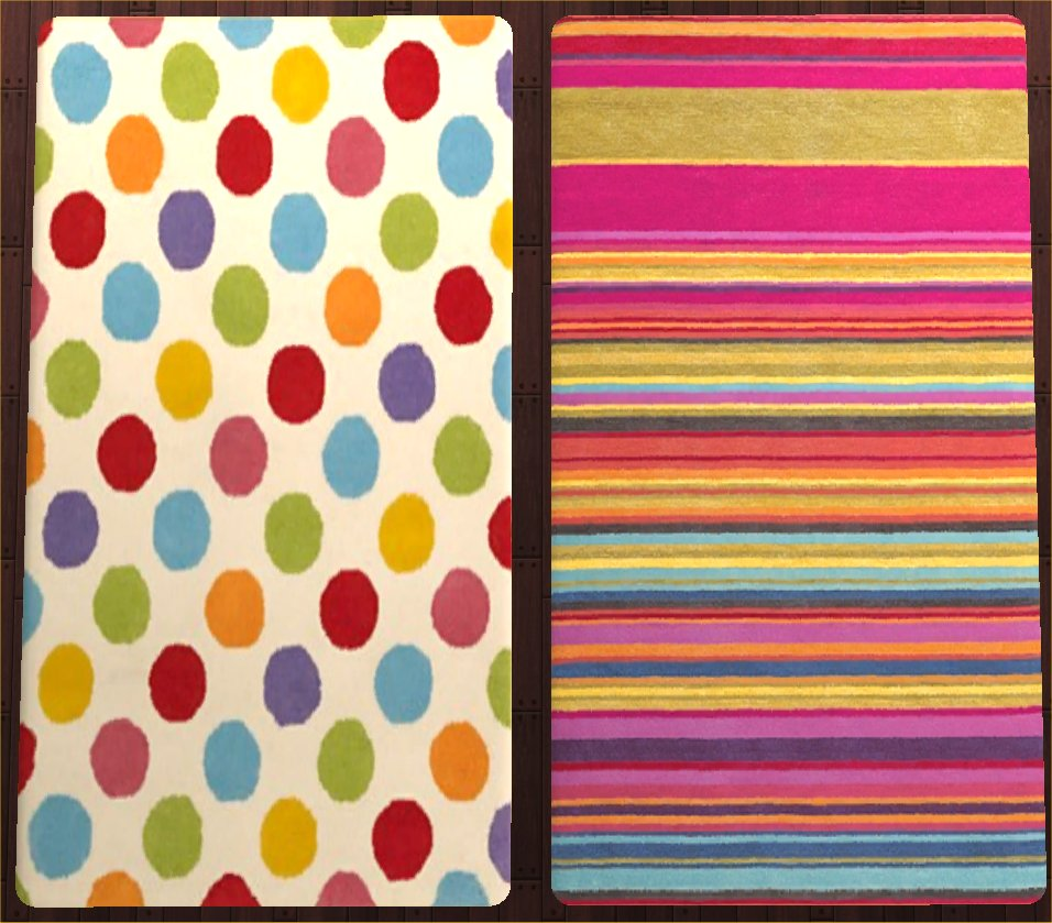 Bright Striped Rugs Home Decor