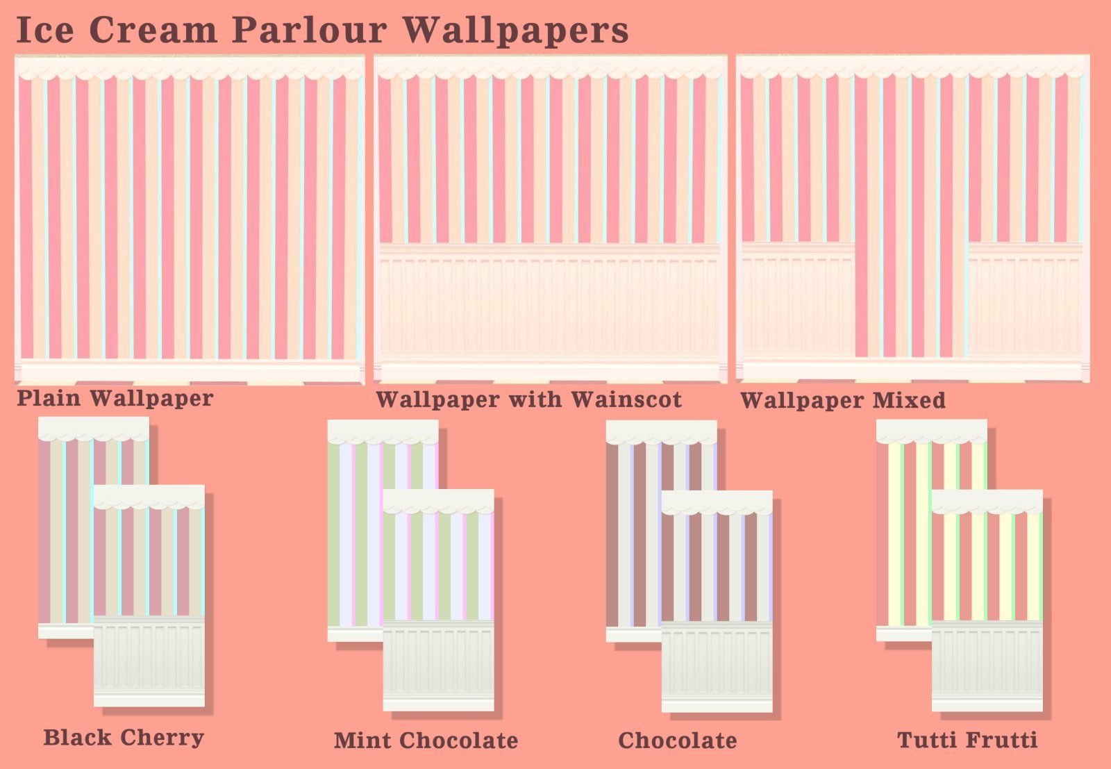 Mod The Sims - Arcady Ice Cream Parlour Pt  2 Wallpapers