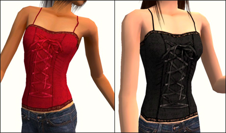 dc475dffd3d Mod The Sims - Corset-like tops for Teens