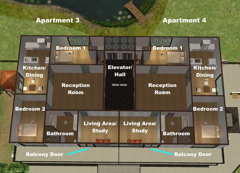 The Sims 2 House Floor Plans